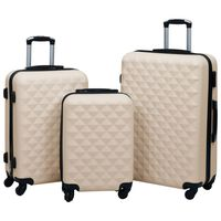 vidaXL kuffertsæt 3 dele hardcase ABS guldfarvet