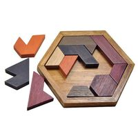 Geometrisk puslespil af træ