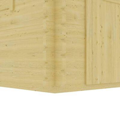 vidaXL træskur 400x376x243,5 cm 44 mm massivt fyrretræ