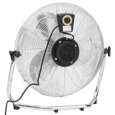 vidaXL gulvventilator 50 cm 3 hastigheder 120 W krom