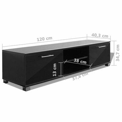 vidaXL tv-bord 120x40,3x34,7 cm sort højglans