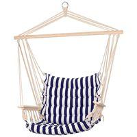 ProGarden hængestol med blå striber