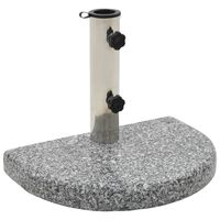 vidaXL parasolfod granit 10 kg buet grå