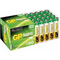 GP Super Alkaline AAA-batterier 40 stk. 1,5 V 03024AB40