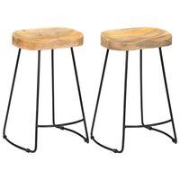 vidaXL Gavin-barstole 2 stk. massivt mangotræ