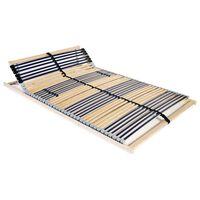 vidaXL lamelbund til seng med 42 lameller 7 zoner 120 x 200 cm