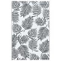 vidaXL udendørstæppe 80x150 cm PP hvid og sort