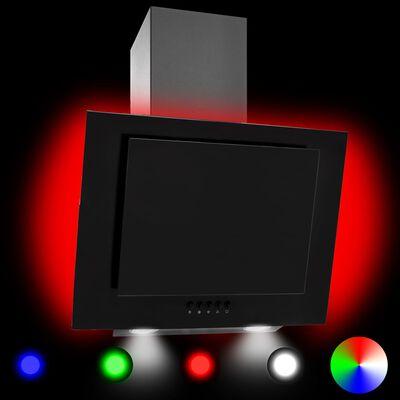vidaXL RGB emhætte LED 60 cm rustfrit stål og hærdet glas