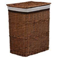 vidaXL stabelbar vasketøjskurv pil brun