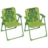 vidaXL børnestole til haven 2 stk. stof grøn