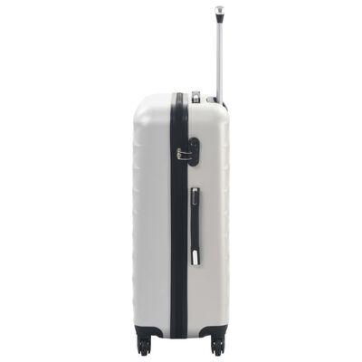 vidaXL kuffertsæt i 3 dele hardcase ABS sølvfarvet