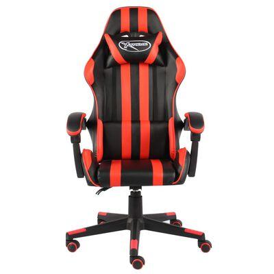 vidaXL racerstol kunstlæder sort og rød