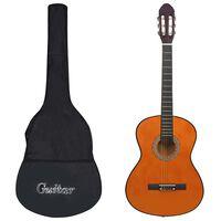 """vidaXL klassisk guitar med taske for begyndere 4/4 39"""""""