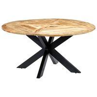 vidaXL spisebord 150 x 76 cm massivt mangotræ rundt