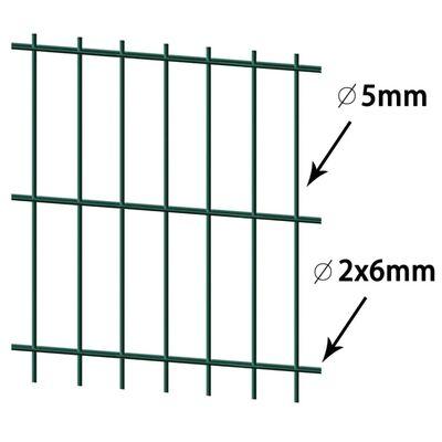 vidaXL havehegnspaneler 2D 2,008x1,43 m 6 m (total længde) grøn