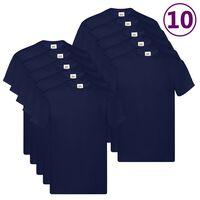 Fruit of the Loom originale T-shirts 10 stk. str. 3XL bomuld marineblå