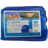 Summer Fun solopvarmet poolovertræk 700x350 cm ovalt PE blå