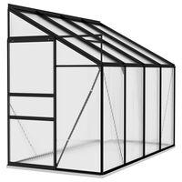 vidaXL drivhus 5,24 m² aluminium antracitgrå