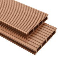 vidaXL WPC terrassebrædder med tilbehør 16 m² 2,2 m brun