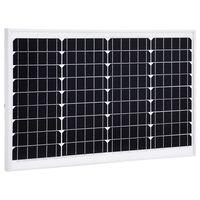 vidaXL solcellepanel 40 W aluminium og sikkerhedsglas