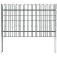 vidaXL 2D gabionhegn galvaniseret stål 2,008x1,23 m 8 m grå