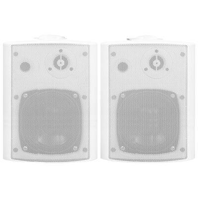 vidaXL væghængte stereohøjttalere 2 stk. indendørs/udendørs 100 W hvid