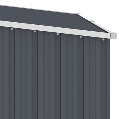 vidaXL brændeskur 245x98x159 cm galvaniseret stål antracitgrå