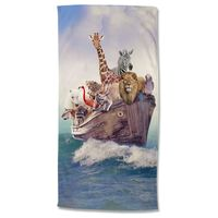 Good Morning badehåndklæde NOAH 75x150 cm flerfarvet