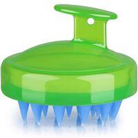 Børste Til Massage Og Afskalning Af Hovedbunden Grøn