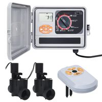 vidaXL kontrolenhed til vandingssystem med fugtsensor og magnetventil