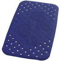 RIDDER skridsikker bademåtte Plattfuß 72 x 38 cm blå 67063