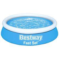 Bestway oppustelig pool Fast Set 183x51 cm rund blå