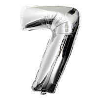 DUGA Nummerballon 75cm Ballon Numbers Sølv figur 5
