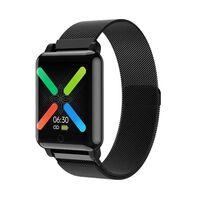 Vandtæt Smartwatch Med Metalarmbånd - Sort