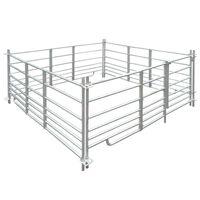 vidaXL fåreindhegning med 4 paneler galvaniseret stål 183x183x92 cm