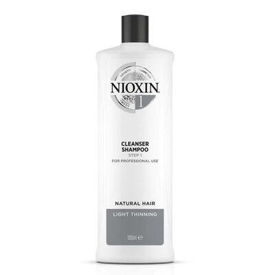 Shampoo til volumen System 1 Nioxin Fint hår 1000 ml