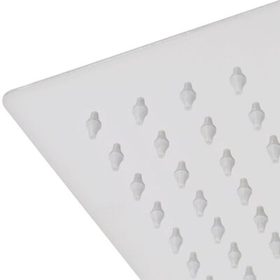 vidaXL brusehoved rustfrit stål 30x50 cm rektangulær