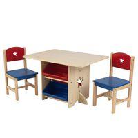 KidKraft sæt med stjernebord og 2 stole