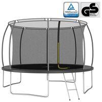 vidaXL trampolinsæt 366x80 cm 150 kg rund