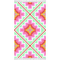 Happiness badehåndklæde ZOPHIA 100x180 cm flerfarvet
