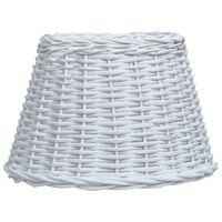 vidaXL lampeskærm 30x20 cm flet hvid