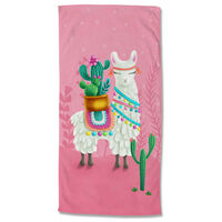 Good Morning badehåndklæde LALAMA 75x150 cm lyserød