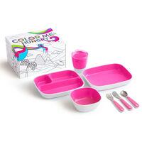 Munchkin spisesæt 7 dele Color Me Hungry pink
