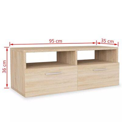 vidaXL TV-skabe 2 stk. spånplade 95 x 35 x 36 cm egetræ