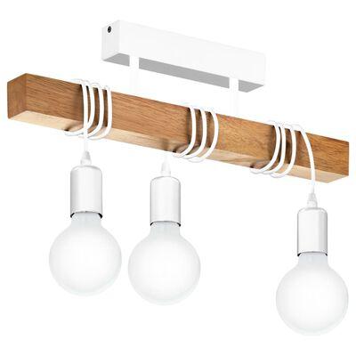 EGLO loftlampe Townshend 3 pærer træ hvid og beige