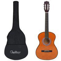 """vidaXL klassisk guitar med taske for begyndere 3/4 36"""""""