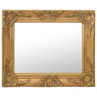 vidaXL vægspejl barokstil 50x40 cm guldfarvet