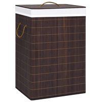 vidaXL vasketøjskurv 72 l bambus brun