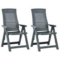 vidaXL havelænestole 2 stk. plastik grøn