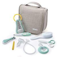 Beaba ophængelig toilettaske til baby 9 dele grå